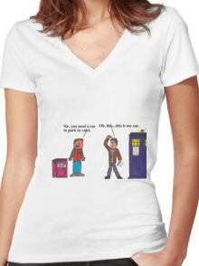 Doctor Who Valet Women's Fitted V-Neck T-Shirt