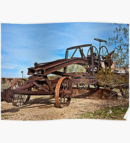 Adams Leaning Wheel Grader Number 8 Poster