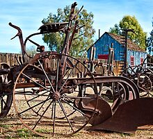 Antique Farm Equipment End of Row by Lee Craig