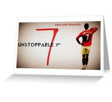 Cristiano Ronaldo Unstoppable  Greeting Card