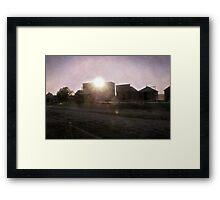 Sun Sets on the Old West Framed Print
