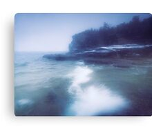 Snow storm at Georgian Bay art photo print Canvas Print