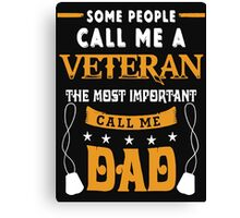 VETERAN DAD Canvas Print