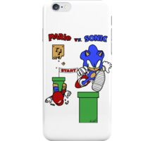 Mario vs. Sonic iPhone Case/Skin