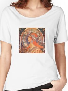 Alphonse Mucha: Zodiac Women's Relaxed Fit T-Shirt