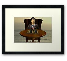 The Time Lord's Chess Manipulation Framed Print