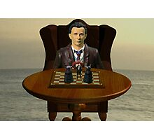 The Time Lord's Chess Manipulation Photographic Print