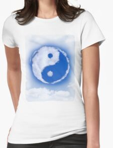 Yin-Yang symbol made of clouds T-shirt design Womens Fitted T-Shirt