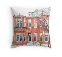 Eleanors House Ayr Scotland Snow scene 1 Throw Pillow