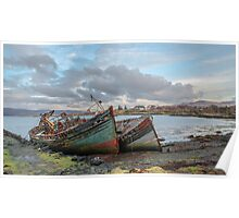 Wrecked Boats on the Isle of Mull, Scotland Poster