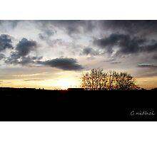 Coucher de soleil sur  le Zenith de Rouen Photographic Print