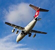 Swiss Air BAE146 HB-IXW by DavidHornchurch