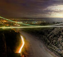 Clifton Suspension Bridge - Night and Day by Simon West