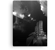 ©DA HCS The Towers IA Monochromatic Canvas Print