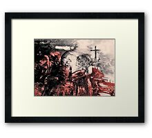 Saved from Hell. Framed Print