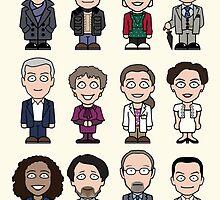Sherlock and Friends mini people (card) by redscharlach