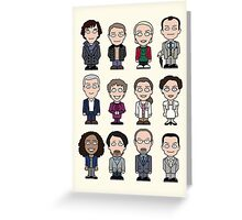 Sherlock and Friends mini people (card) Greeting Card