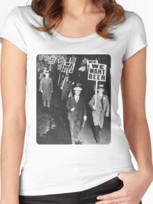WE WANT BEER Women's Fitted Scoop T-Shirt