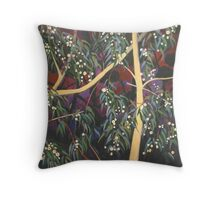 Dream White Gum Flowers At Night Throw Pillow