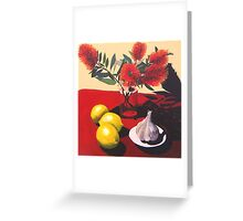 Garlic, Lemon and Bottlebrush. Greeting Card