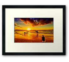 Golden Memories Framed Print