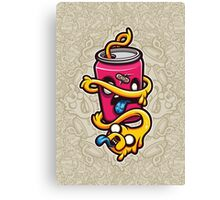 Can of Jake Cartoon Character Canvas Print