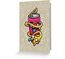 Can of Jake Cartoon Character Greeting Card