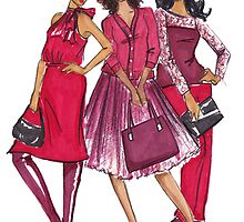 Ladies in Red by veronicamarche