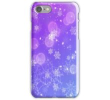 Blue  Winter Snowflakes miracle iPhone Case/Skin