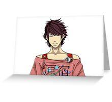 Harajuku Anime Boy Greeting Card