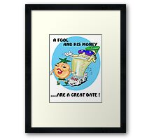 DATING CARTOON QUOTE Framed Print