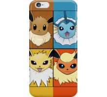 Pokemon Eeveelutions - Jolteon Flareon Vaporeon Eevee iPhone Case/Skin