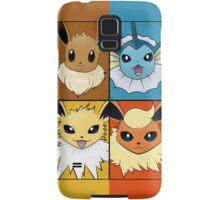 Pokemon Eeveelutions - Jolteon Flareon Vaporeon Eevee Samsung Galaxy Case/Skin