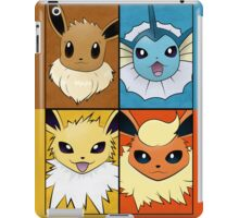 Pokemon Eeveelutions - Jolteon Flareon Vaporeon Eevee iPad Case/Skin