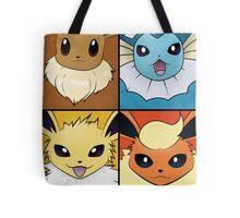 Pokemon Eeveelutions - Jolteon Flareon Vaporeon Eevee Tote Bag