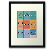 Kanto Starters - Pokemon Poster - Charizard Blastoise Venusaur Framed Print