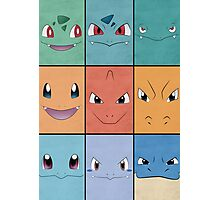 Kanto Starters - Pokemon Poster - Charizard Blastoise Venusaur Photographic Print