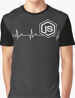 Node.js Heartbeat T-shirt & Hoodie Graphic T-Shirt