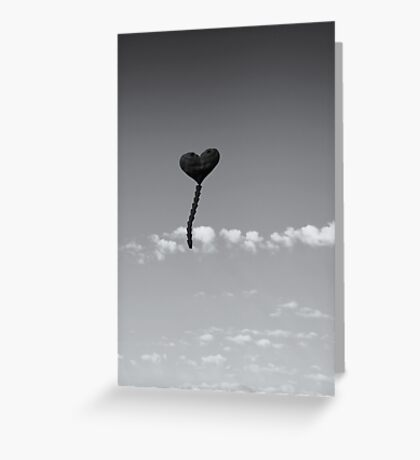 Black Heart Kite Greeting Card