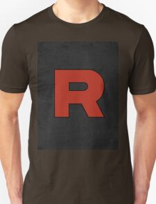 Team Rocket Logo Design Poster Pokemon Original T-Shirt