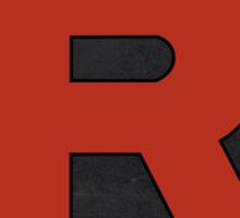 Team Rocket Logo Design Poster Pokemon Original Sticker