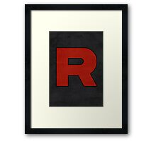 Team Rocket Logo Design Poster Pokemon Original Framed Print