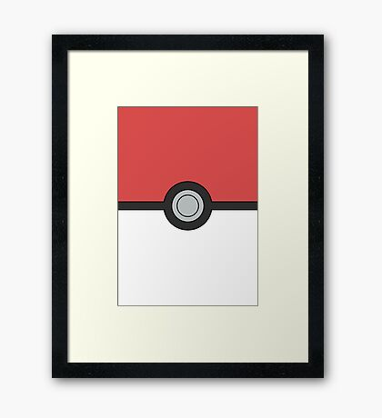 Pokemon Pokeball Minimal Design Poster Framed Print