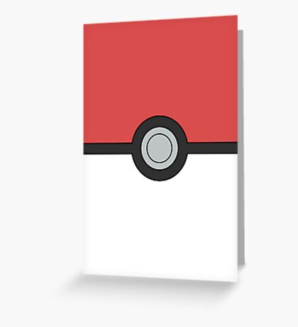 Pokemon Pokeball Minimal Design Poster Greeting Card