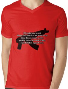 AK-47 B&W Mens V-Neck T-Shirt