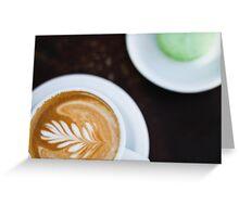 Coffee & Macaron Greeting Card