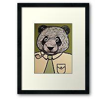 Panda Dad faces Retirement  Framed Print