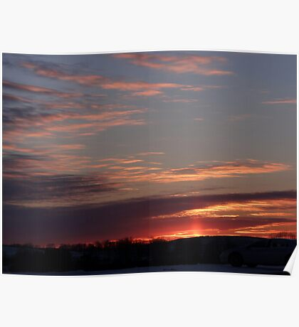 Sunset after the surgery Poster