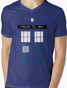 TARDIS Big Mens V-Neck T-Shirt