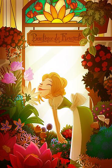 flower shop by Ron Jensen